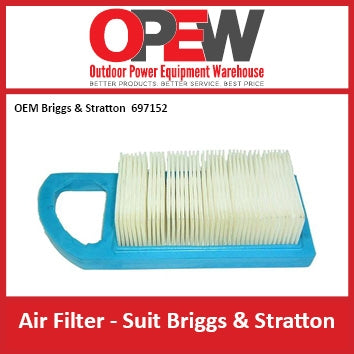 New Lawn Mower Air Filter OEM 697014 Briggs & Stratton AIR-1312