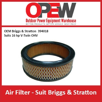 New Lawn Mower Air Filter OEM 394018 Briggs & Stratton AIR-1314