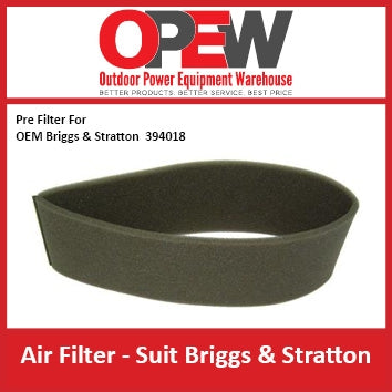 New Lawn Mower Air Pre Filter for AIR-1314 Briggs & Stratton AIR-1315
