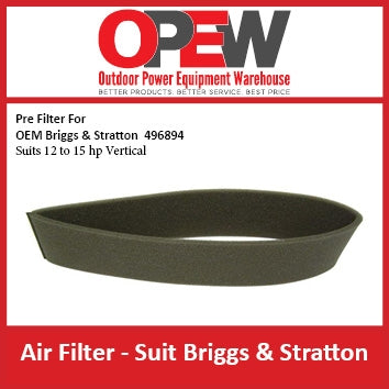 New Lawn Mower Air Pre Filter Briggs & Stratton AIR-1316 Pre Filter for OEM 496849