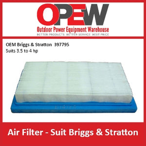 New Lawn Mower Air Filter Briggs & Stratton AIR-1318 OEM 397795