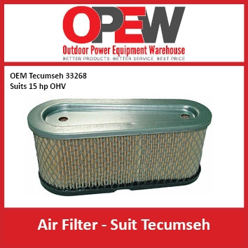 New Lawn Mower Air Filter Techumseh AIR-1329 OEM 33268 Suits 15 hp OHV