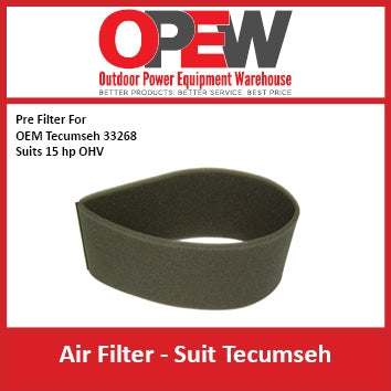 New Lawn Mower Air Pre Filter Techumseh AIR-1329 Pre Filter for OEM 33268 Suits 15 hp OHV