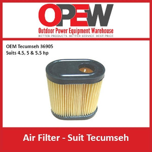 New Lawn Mower Air Filter Tecumseh AIR-1331 Filter for OEM 36905 Suits 4.5, 5, 5.5 hp