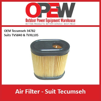 New Lawn Mower Air Filter Tecumseh AIR-1332 Filter for OEM 34782 Suits TVS840 & TVXL105