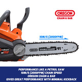 "New RB-CS12 Redback 40V Cordless 12"" Chainsaw w Oregon Bar & Chain  (Skin Only)"