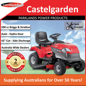 "New Castelgarden XDL190HD 42"" 500cc Side Discharge Ride On Mower 