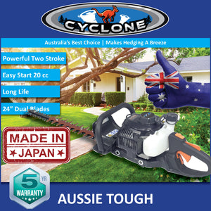"New Cyclone 24"" 23cc Kawasaki Commercial Hedgetrimmer Made In Japan 