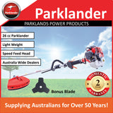New Parklander 26cc Straight Shaft Brushcutter / Trimmer with Tap N Go Head