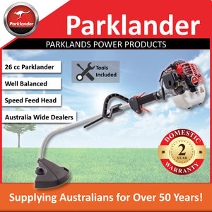 New Parklander 26cc Bent Shaft Brushcutter / Trimmer with a Speed Feed Head