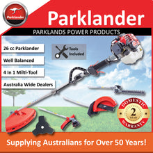 Load image into Gallery viewer, New Parklander 26cc Multi Tool with 3 Attachment and bonus slashing blade