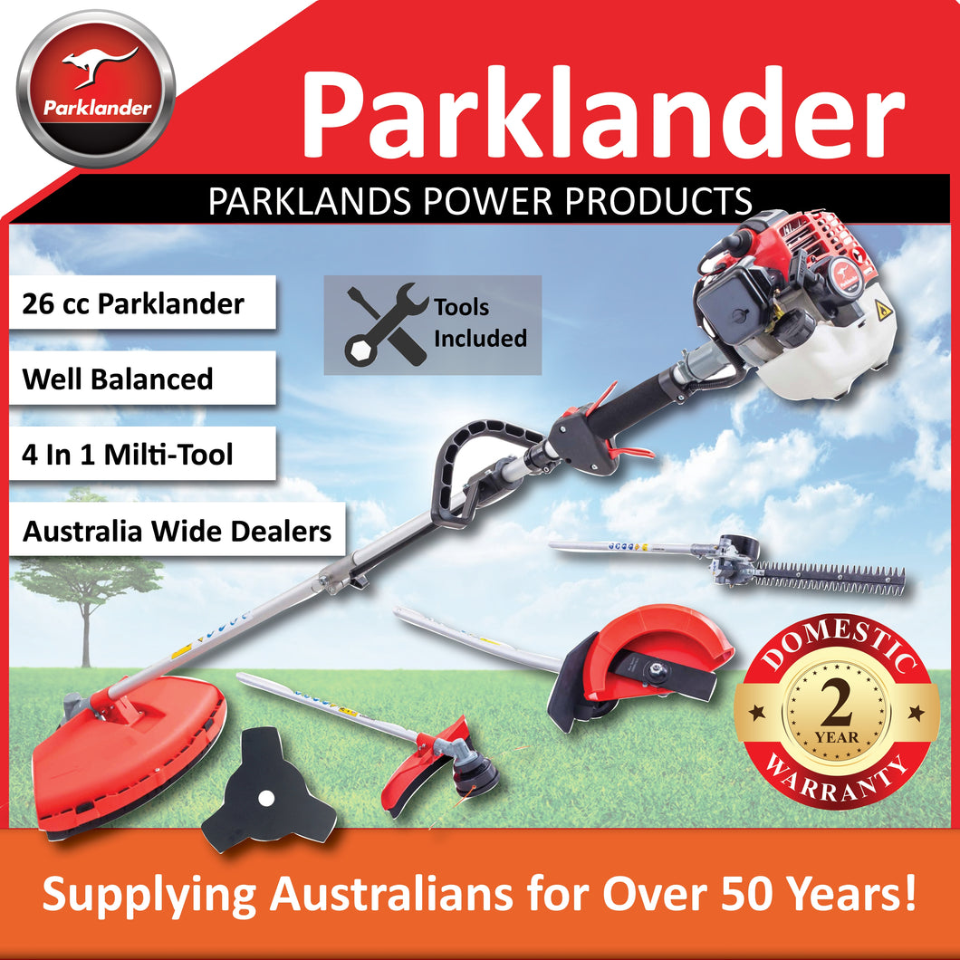 New Parklander 26cc Multi Tool with 3 Attachment and bonus slashing blade