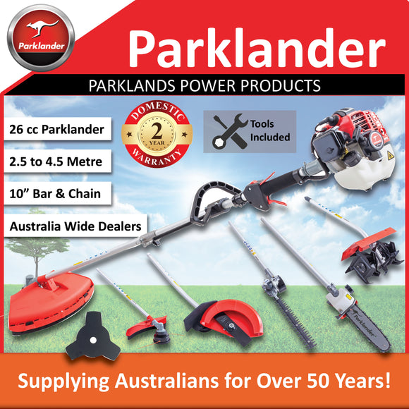 New Parklander 26cc Multi Tool with 5 attachments and slashing blade