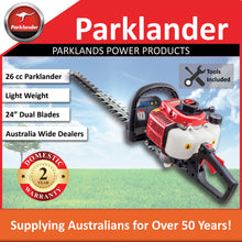 Load image into Gallery viewer, New Parklander 26cc Hedgetrimmer with 180 degree rear swivel handle