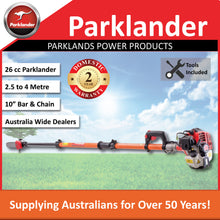 Load image into Gallery viewer, New Parklander Telescopic Pole Saw PPS-450 26cc 2.5-4 metre reach