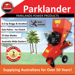 New Parklander PSC-76-B Chipper/Shredder 6.5 hp Briggs & Stratton - Takes Palms