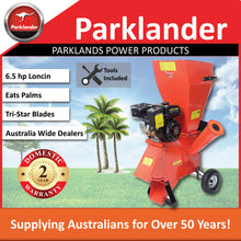 Load image into Gallery viewer, New Parklander Chipper/Shredder 6.5 hp Loncin - Takes Palms - PSC-76-C