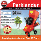 New Parklander  Chipper/Shredder 6.5 hp Loncin - Takes Palms - PSC-76-L