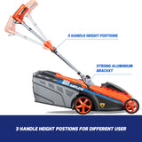 "New RB-MWR Redback 40V 15"" Cordless Push Lawn Mower Includes 4 Ah & Bonus 6 Ah Battery & Charger"