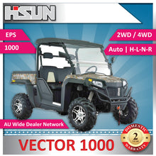 Load image into Gallery viewer, New Hisun 1000 Vector Utility Vehicle 1000cc H-L-N-R 2/4WD, Winch, Roof, W-Screen