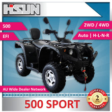 Load image into Gallery viewer, New Hisun 500 Sport Sport Quad Bike H-L-N-R 2/4WD *Two Year Warranty