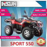 New Hisun S550 Sport Quad Bike 546cc H-L-N-R 2/4WD | EPS