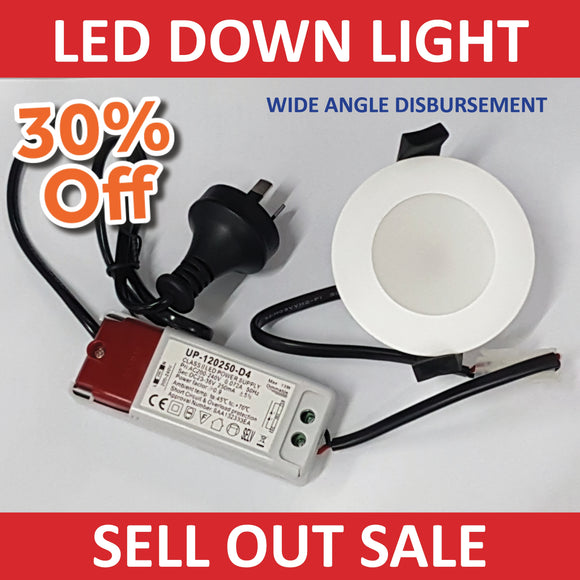 New LED DOWN LIGHTS | 10W Cool White 80 mm & Transformer!