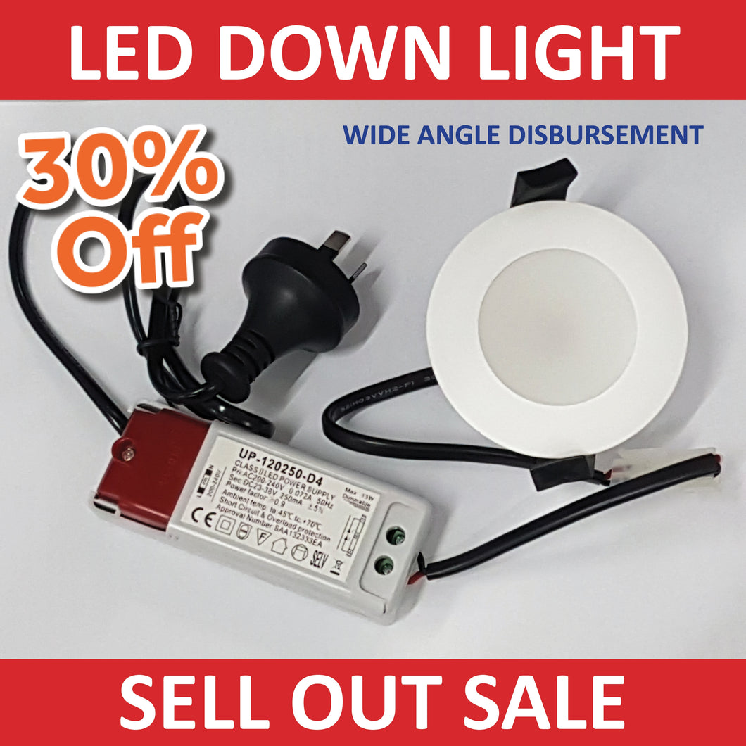 New LED DOWN LIGHTS | 10W Neutral White 80 mm & Transformer!