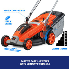"Load image into Gallery viewer, New RB-MWR Redback 40V 15"" Cordless Push Lawn Mower (Tool Only)"
