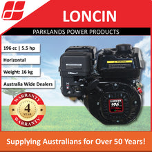 Load image into Gallery viewer, New Loncin G200FA 5.5 Hp 196cc Horizontal Shaft Engine | 4 Year Warranty
