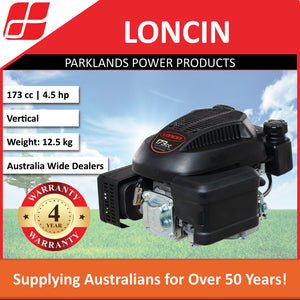 New Loncin LC1P70F 4.5 Hp 173cc Vertical Push Mower Engine | 4 Year Warranty