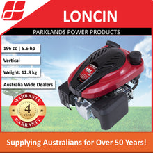 Load image into Gallery viewer, New Loncin LC1P70FA 5 Hp 196cc Vertical Push Mower Engine | 4 Year Warranty