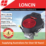 New Loncin LC2P80F 19.5 Hp 764cc Ride On Mower Engine | 4 Year Warranty