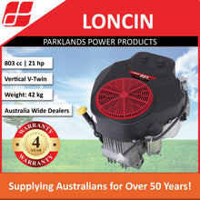 Load image into Gallery viewer, New Loncin LC2P82F 21 Hp 803 cc Ride On Mower Engine | 4 Year Warranty