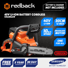 "Load image into Gallery viewer, New RB-CS12 Redback 40V Cordless 12"" Chainsaw w Oregon Bar & Chain  (Tool Only)"