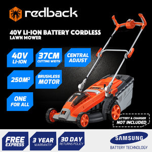 "New RB-MWR Redback 40V 15"" Cordless Push Lawn Mower (Tool Only)"