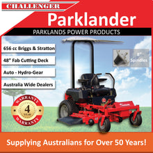 "Load image into Gallery viewer, New Parklander PZT-48R 48"" Cut 20hp Briggs & Stratton Fab Deck Zero Turn Mower"