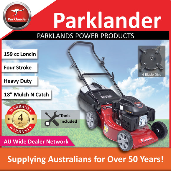 New Parklander Wallaby PCM4040L 159 cc Mulch N Catch | Push lawn mower