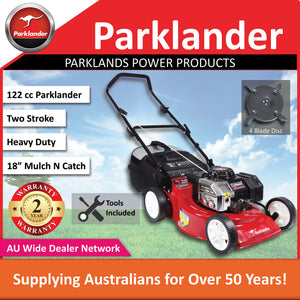 New Parklander Red Back PCM4050-2 122 cc 2 Stroke Mulch and Catch Push Lawn Mower