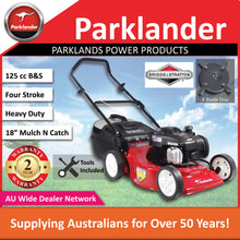 Load image into Gallery viewer, New Parklander Red Back 450E PCM4050E 125 cc Mulch and Catch Push Lawn Mower