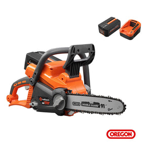 40V Brushless Cordless Chainsaw,12in Oregon Bar&Chain With 6Ah Battery,Speed Charger