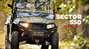 New Hisun 550 Sector Utility Vehicle 550cc H-L-N-R 2/4WD, Winch, Roof & W-Screen