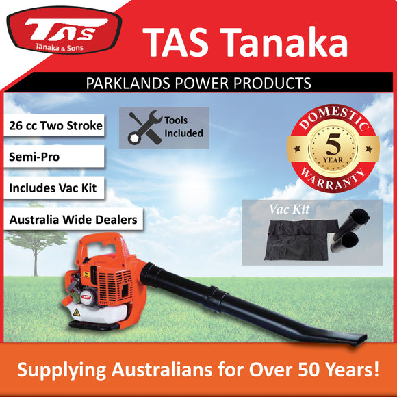 New TAS PRO-2610 26cc Blower & Vac Kit Included | E-Start | 5 Yr Warranty