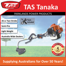 Load image into Gallery viewer, New TAS PRO-26EAB 26cc Bent Shaft Brushcutter E-Start | 5 Yr Warranty - Trimmer