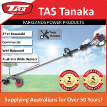 Load image into Gallery viewer, New TAS PRO-N26C 27cc Kawasaki Brushcutter | 2 Yr Commercial 5 Yr Domestic Warranty - Trimmer