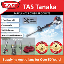 Load image into Gallery viewer, New TAS PRO-N26KSS 27cc Kawasaki Split Shaft Brushcutter | 2 Yr Commercial 5 Yr Domestic Warranty - Trimmer