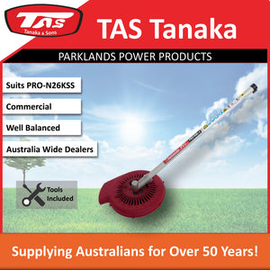 New TAS PRO-N26KSS 27cc Kawasaki Split Shaft Brushcutter - Blower Attachment - Trimmer