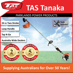 New Tanaka TCG-24EBS 24cc Commercial Straight Shaft Brushcutter / Smart Start | Save $69