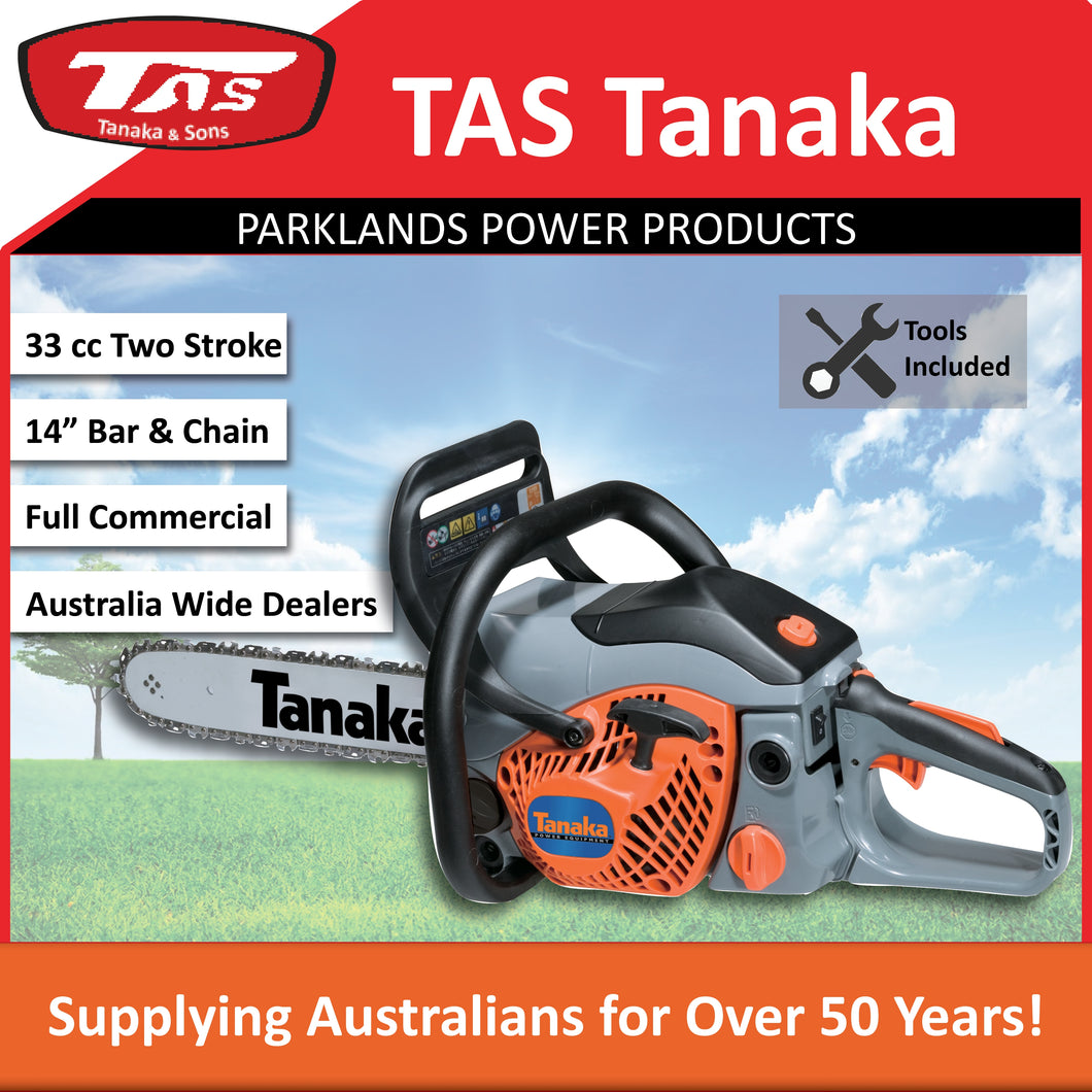 New Tanaka TCS-33EB 32 cc Rear Handle Chainsaw 14
