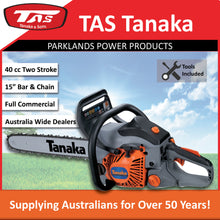 "Load image into Gallery viewer, New Tanaka TCS-40EA-15 40 cc Rear Handle Chainsaw 15"" Oregon Bar & Chain"